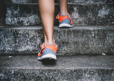 legs climbing steps